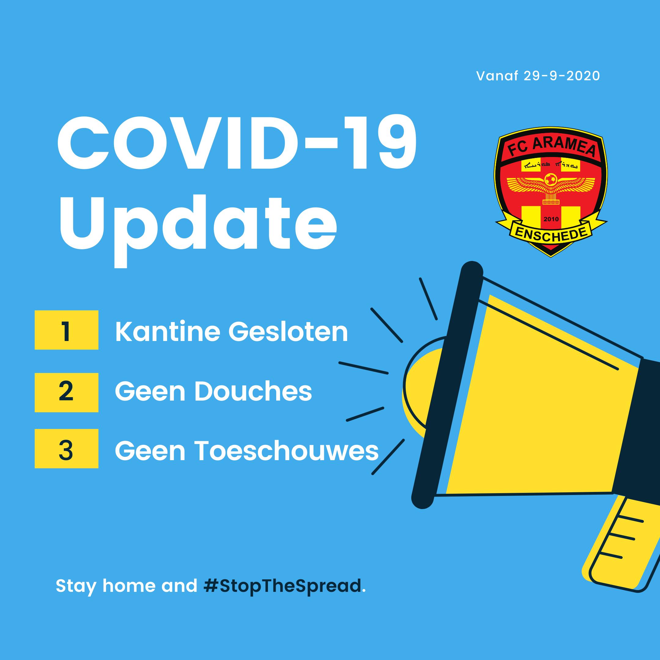 Update 29-09-2020 Covid 19